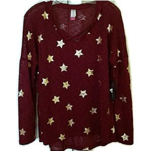 NB maroon and gold star sweater